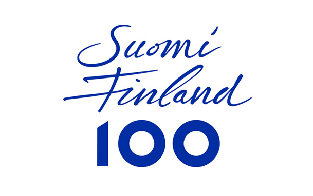 Finnish 100th year of independence logo