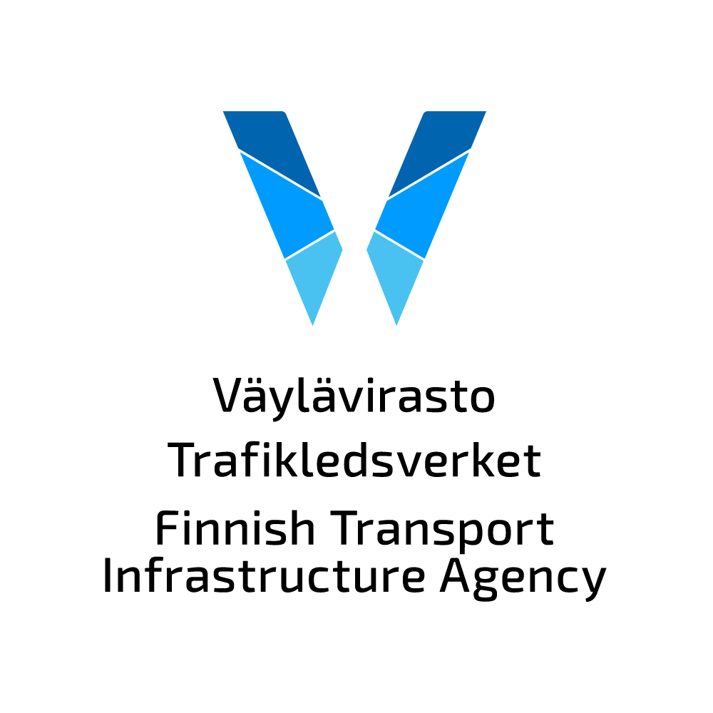 Finnish Transport Infrastrucure Agency's logo.